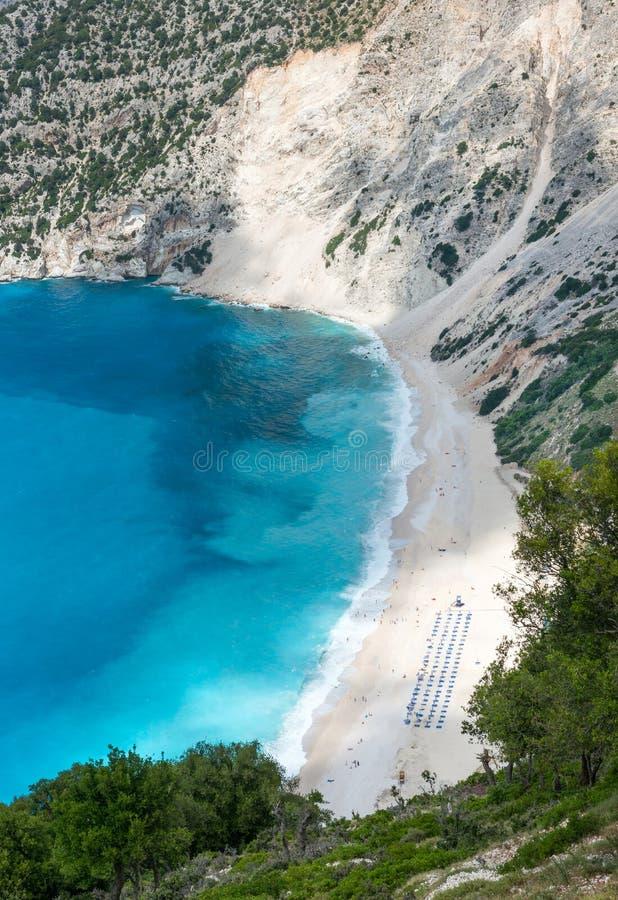 Download Spiaggia di Myrtos immagine stock. Immagine di spiaggia - 56889711