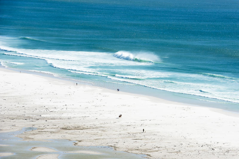 Spiaggia di Noordhoek, Sudafrica fotografia stock