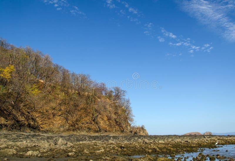 Spiaggia di Ocotal in Guanacaste - Costa Rica fotografia stock libera da diritti
