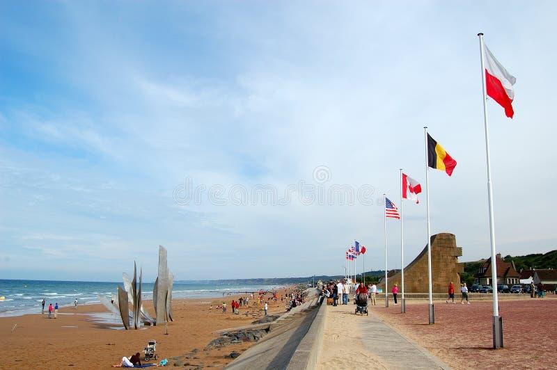 Spiaggia di Omaha immagini stock