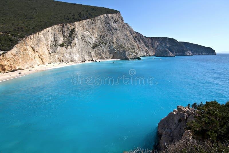 Spiaggia di Oporto Katsiki all'isola di Lefkada fotografia stock