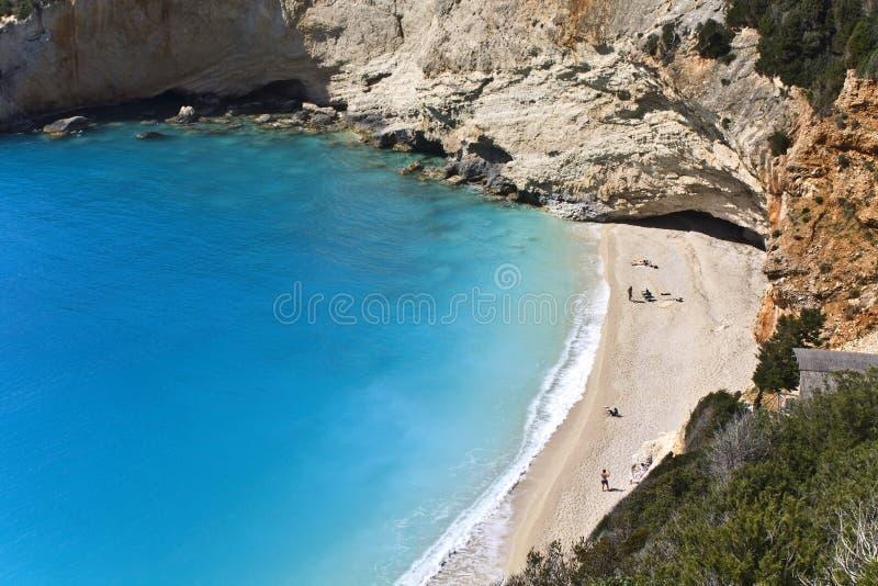 Spiaggia di Oporto Katsiki a Lefkada, Grecia fotografia stock