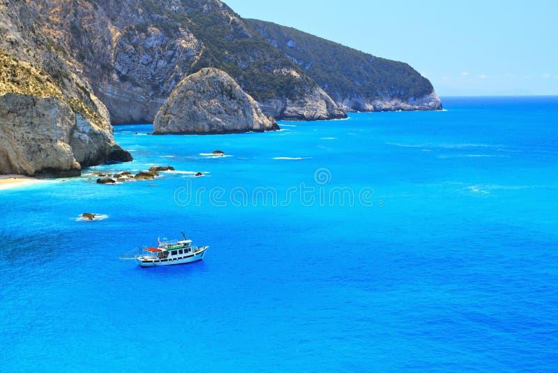 Spiaggia di Oporto Katsiki a Lefkada, Grecia immagini stock libere da diritti