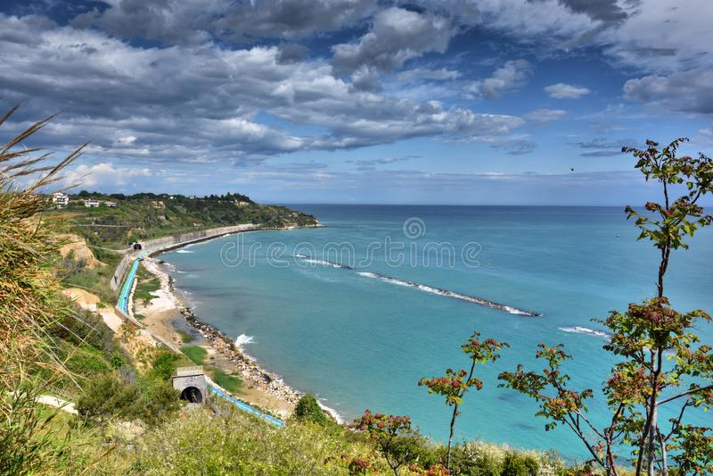 Spiaggia di Ortona al mare di Adriatico immagini stock