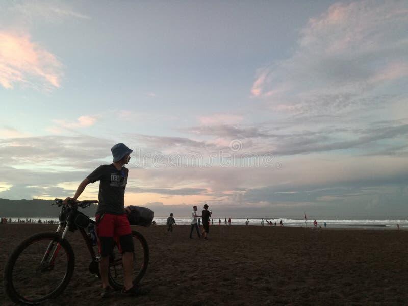 Spiaggia di Pangandaran immagini stock