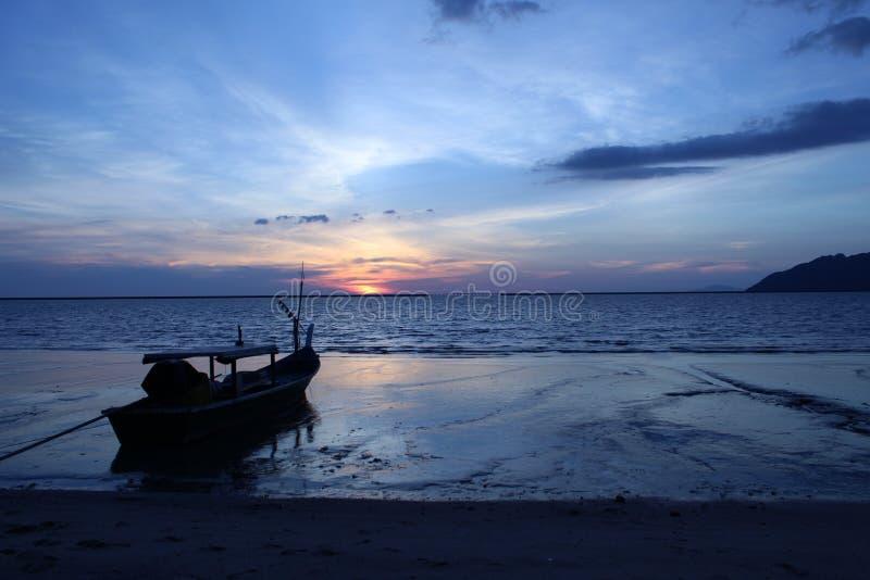 Spiaggia di Pantai Cenang fotografie stock