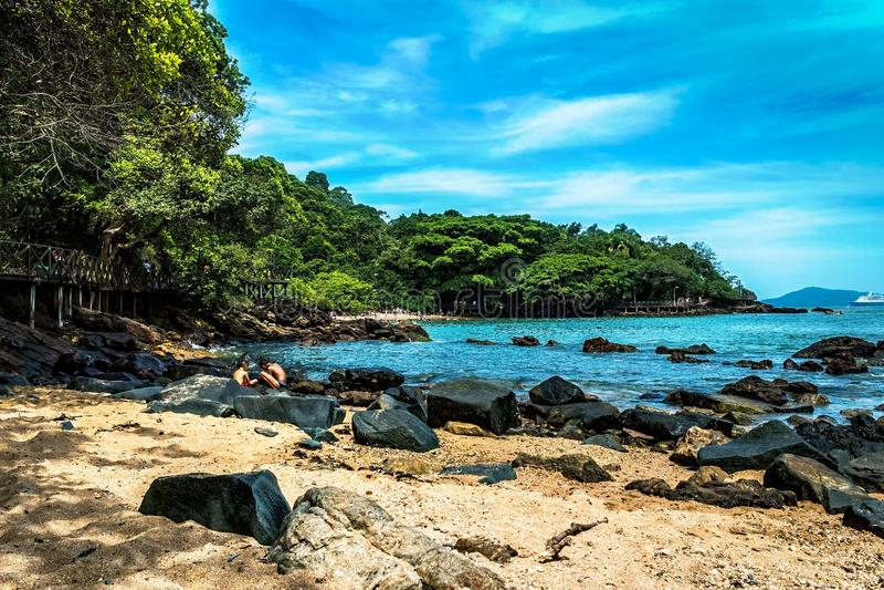 Spiaggia di paradiso di Prainha fotografia stock