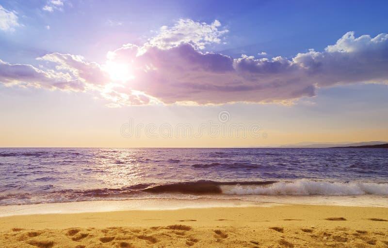 Spiaggia di Paradisos in Grecia fotografia stock