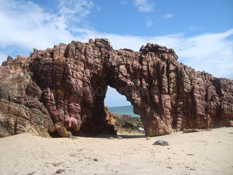 Spiaggia di Pedra Furada fotografia stock