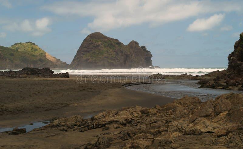 Spiaggia di Piha immagine stock
