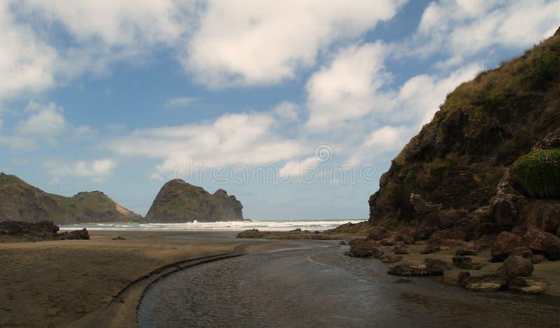 Spiaggia di Piha immagini stock
