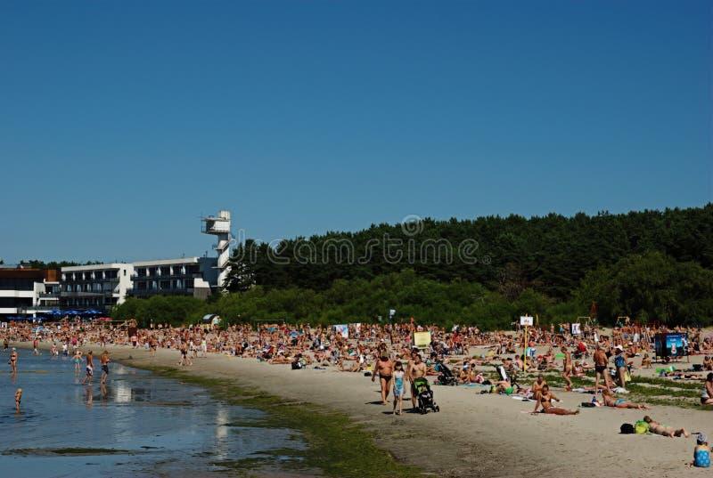 Spiaggia di Pirita a Tallinn immagine stock