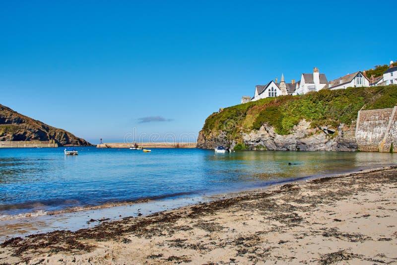spiaggia di porto Isaac, un paesino di pescatori in Cornovaglia del nord, Inghilterra immagini stock