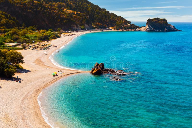 Spiaggia di Potami fotografia stock libera da diritti