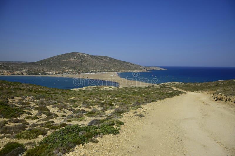 Spiaggia di Prasonissi, Grecia fotografia stock libera da diritti