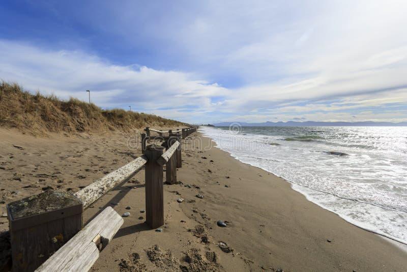 Spiaggia di Pwllheli fotografia stock