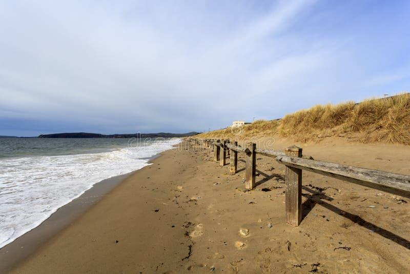 Spiaggia di Pwllheli fotografia stock libera da diritti