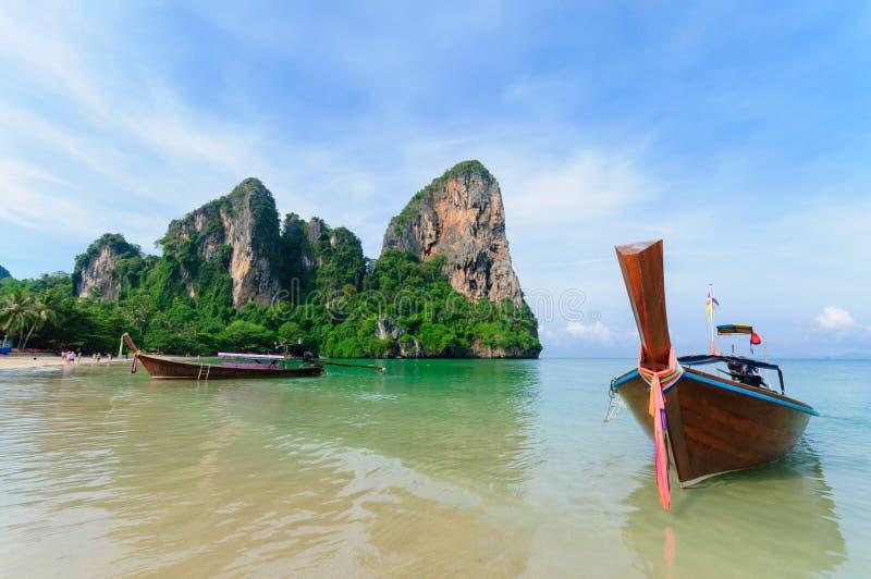 Spiaggia di Railay in Krabi Tailandia fotografie stock