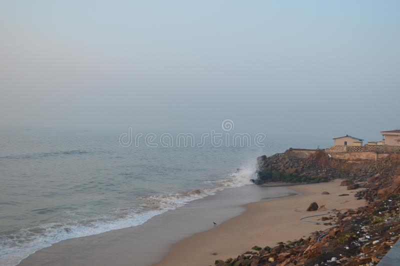 Spiaggia di Rama Krishna, Vizag, India fotografia stock libera da diritti
