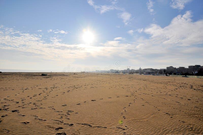Spiaggia di Rimini fotografie stock