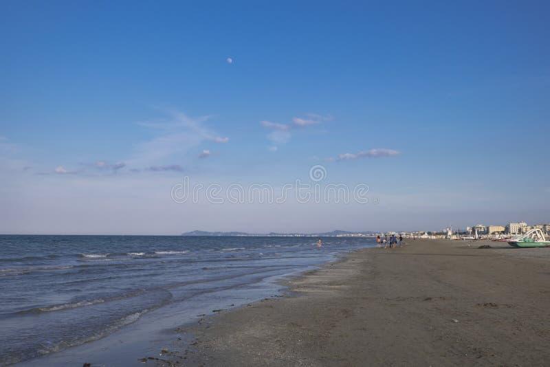 Spiaggia di Rimini fotografie stock libere da diritti