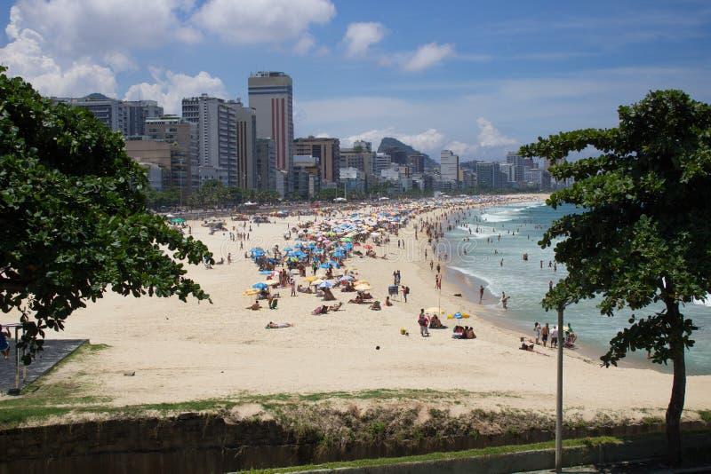 Spiaggia di Rio de Janeiro immagine stock