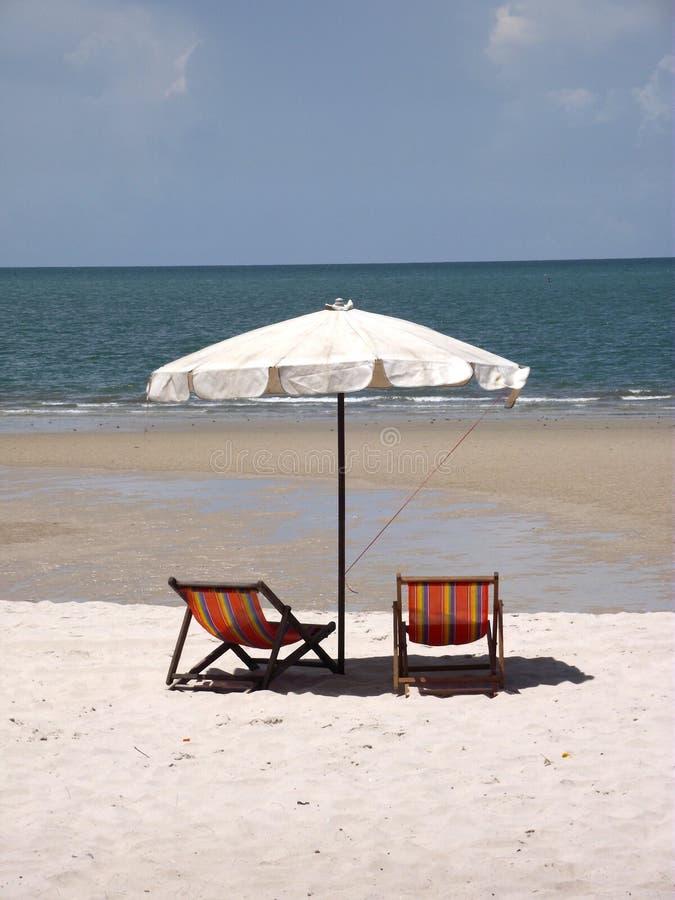 Spiaggia di sabbia a Huahin Tailandia fotografie stock