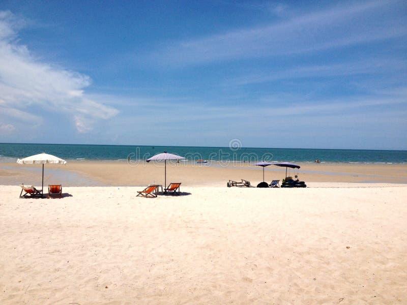Spiaggia di sabbia a Huahin Tailandia immagine stock libera da diritti