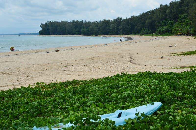 Spiaggia di sabbia sull'isola di Phuket, Tailandia immagini stock libere da diritti