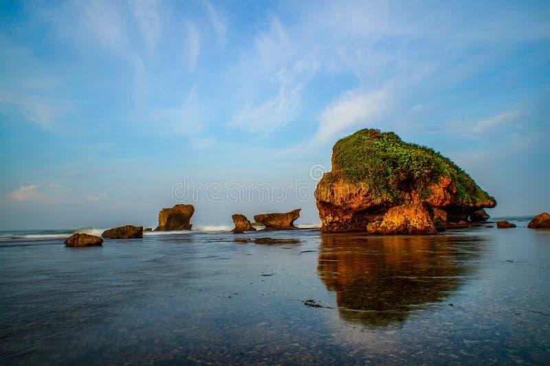 Spiaggia di Sadranan fotografia stock