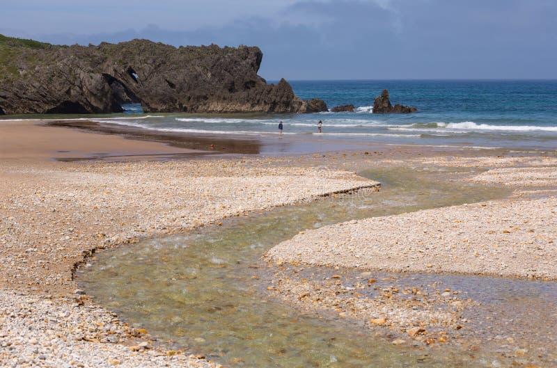 Spiaggia di San Antolin fotografie stock libere da diritti