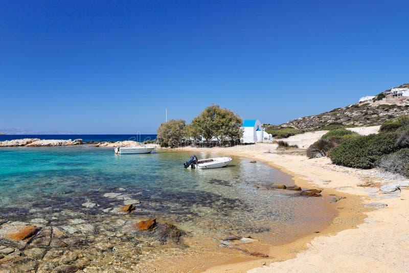 Spiaggia di San Giorgio di Antiparos, Grecia fotografia stock libera da diritti