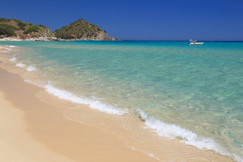 Spiaggia di San Pietro, Castiadas fotografie stock libere da diritti