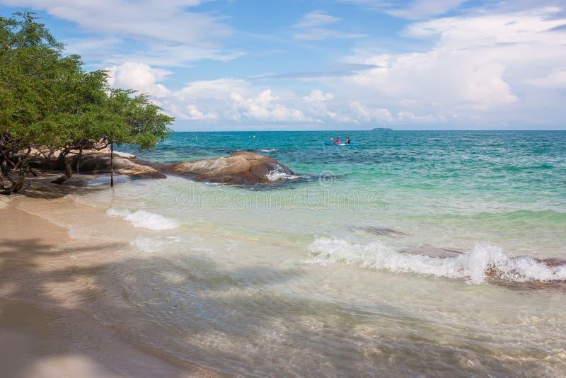 Spiaggia di Sang Thian, isola di Samet, Tailandia immagini stock libere da diritti