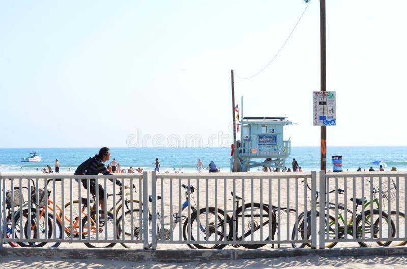 Spiaggia di Santa Monica immagine stock