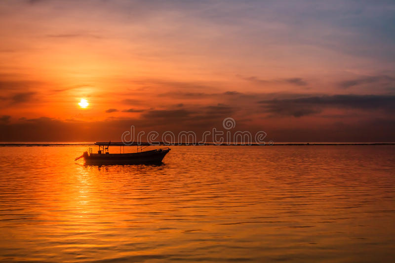 Spiaggia di Sanur a Bali, Indonesia fotografia stock libera da diritti