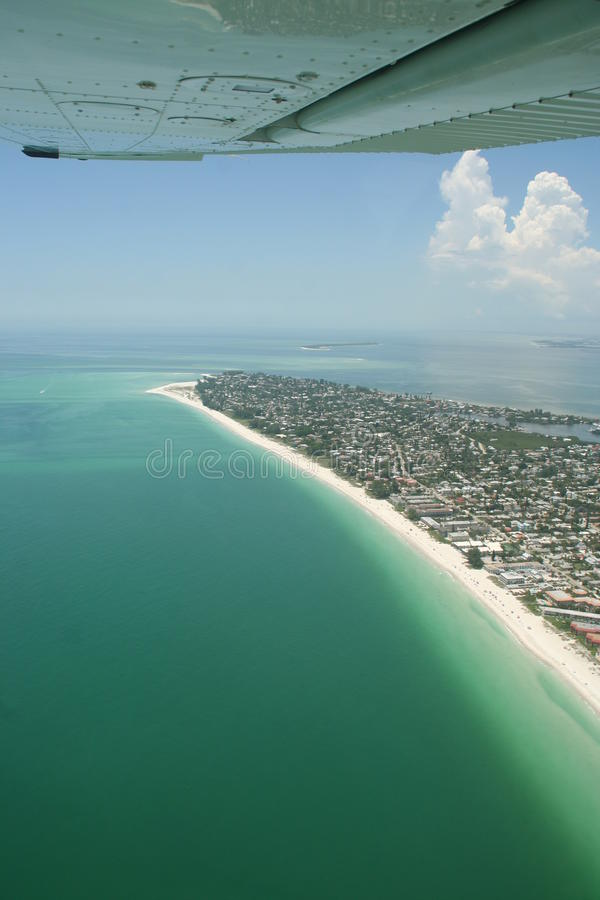 Spiaggia di Sarasota da aria fotografia stock libera da diritti
