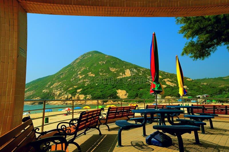 Spiaggia di Shek o, Hong Kong fotografia stock libera da diritti
