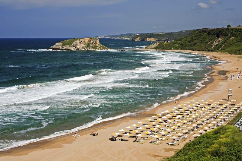 Spiaggia di Sile, Costantinopoli, Turchia immagine stock