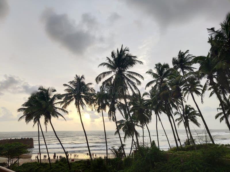 Spiaggia di Sinquerim, Goa fotografia stock libera da diritti