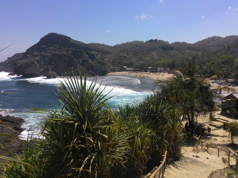 Spiaggia di Siung fotografia stock libera da diritti