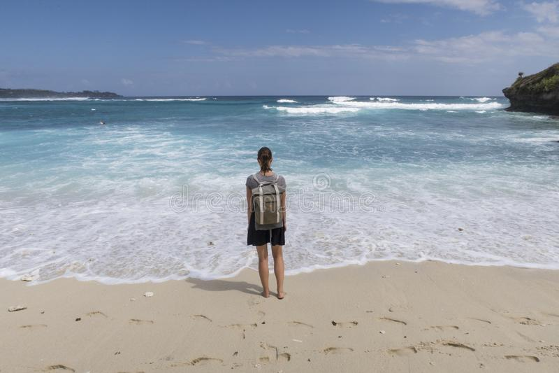 Spiaggia di sogno, Nusa Lembongan, Indonesia immagini stock
