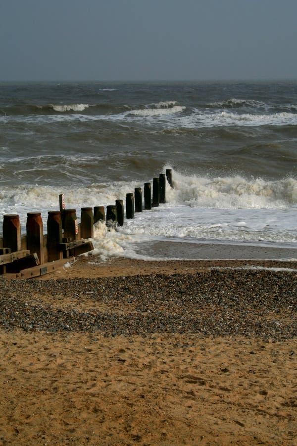 Spiaggia di Southwold fotografia stock