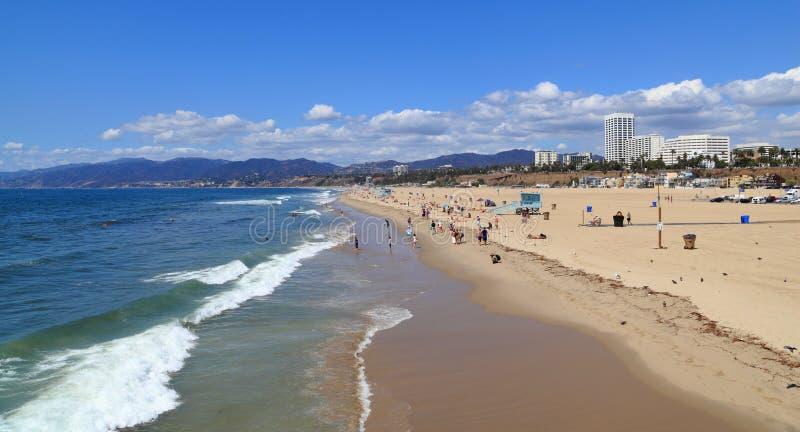 Spiaggia di stato di Santa Monica immagini stock libere da diritti