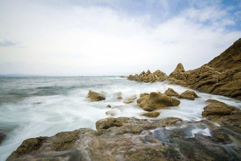 Spiaggia di stupore di Bilbao immagini stock libere da diritti
