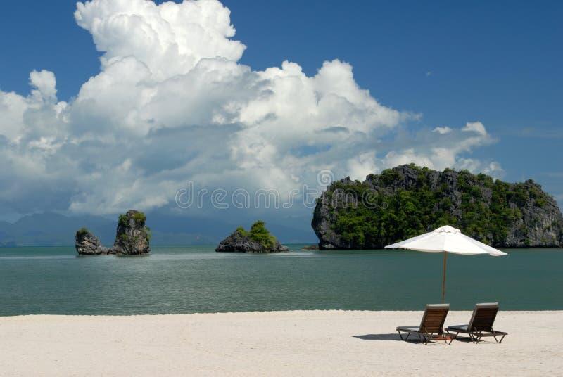 Spiaggia di Tanjung Rhu, Langkawi in Malesia immagini stock