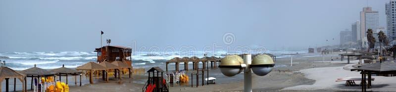 Spiaggia di Tel Aviv fotografia stock libera da diritti