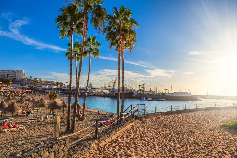 Spiaggia di Tenerife, Spagna fotografia stock libera da diritti