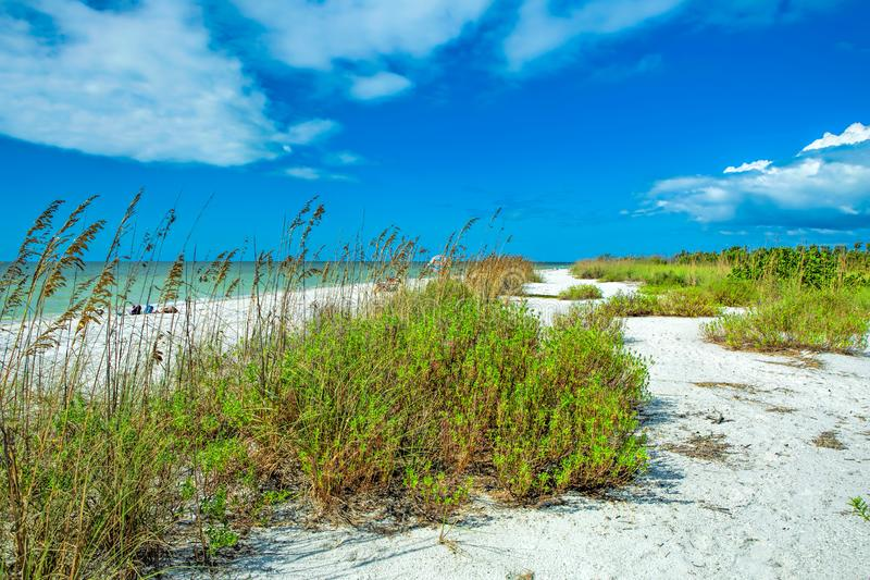 Spiaggia di Tigertail a Marco Island fotografie stock
