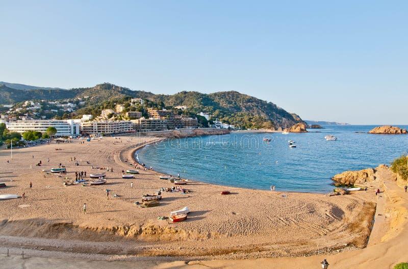 Spiaggia di Tossa de Mar, Costa Brava immagini stock